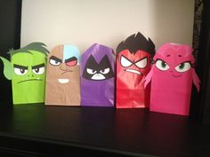 Teen Titans Gift Sack Face Printables Color by ClearlyCandace