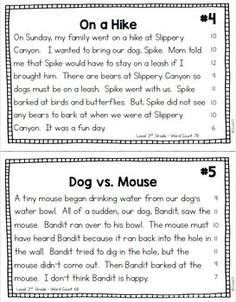 Fluency Passages Reading Comprehension by Reading Fluency Activities, Reading Comprehension Games, Reading Assessment, Reading Worksheets, Reading Passages, Comprehension Strategies, Reading Response, Third Grade Writing, 2nd Grade Reading