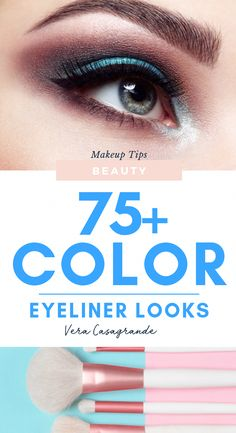 75+ Surprising Color Eyeliner Looks to Slay | Vera Casagrande These color eyeliner looks are the perfect makeup look to try. Women's Makeup and Beauty Inspiration for winged eyeliner. #eyeliner #eyelinertricks #eyelinerstyles #eyelinertutorial #eyelinertips color eyeliner winged liner #coloreyelinerlooks #eyemakeuplover #coloreyelinerlookssimple #coloreyeliner #ideascoloreyeliner #wingedliner #wingedeyeliner #eyelinerstyles #eyeliners #eyemakeup #goldeyeli #HowToDoEyeliner Winged Eyeliner Tutorial, Simple Eyeliner, Perfect Eyeliner, Eyeliner Looks, How To Apply Eyeliner, No Eyeliner Makeup, Color Eyeliner, Winged Liner, Perfect Makeup