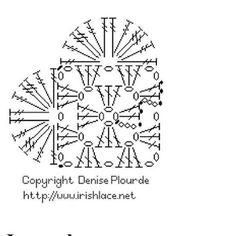 42 Trendy ideas for crochet heart diagram charts granny squares Crochet Motifs, Crochet Diagram, Crochet Chart, Crochet Granny, Crochet Patterns, Crochet Owls, Crochet Blankets, Heart Diagram, Diy Crafts Crochet