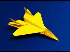 Origami F 15 Jet Easy tutorial. Paper Plane F15 . Flying model. - YouTube