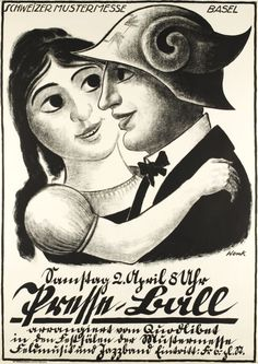 1927 Masked Ball at the occasion of the Basel Carnival, Swiss vintage poster