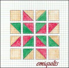Graph Paper Drawings, Graph Paper Art, Easy Drawings, Star Quilt Blocks, Star Quilts, Quilt Block Patterns, Blackwork, Mandala Doodle, Mehndi Art Designs
