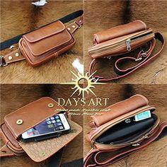 Amazon.co.jp: Дни искусства (Дни искусства) рукоятка сумка из телячьей кожи кожа талии сумка кнопку магнит карман тела сумка поясная сумка Браун: Обувь и сумки: по почте
