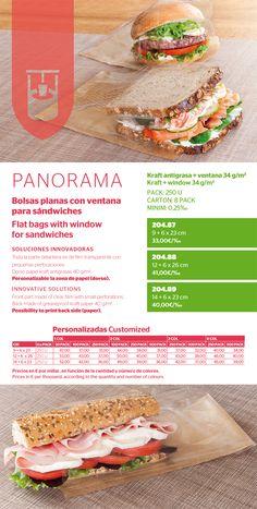 Nuevas bolsas planas con ventana para sándwiches de Garcia de Pou