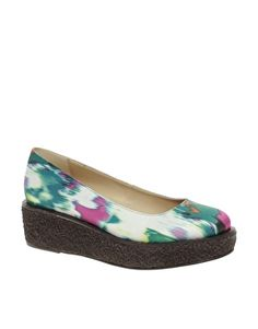 ASOS VARSITY Flatforms with Crepe Sole
