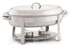 Alegacy AL428A Stainless Steel Top-Shelf Oval Chafer, 20-1/2 by 12-1/4 by 12-3/4-Inch