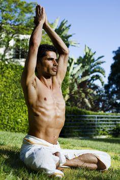 "Yogi Cameron, Ayurveda guru and host of ""Yogi Cameron: A Model Guru"" Yoga Man, Yoga For Men, Mindfulness Retreat, Hatha Yoga Poses, Male Yoga, Ayurvedic Medicine, Yoga Meditation, How To Do Yoga, Ayurveda"