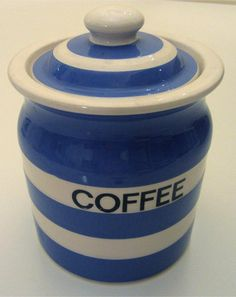 T G Green Cornish Kitchen Ware Cornishware Coffee Storage Excellent!