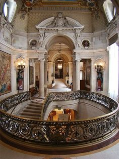 Grand Staircase, Chantilly, France ...