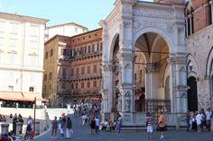 Sienna, entrance to City Hall. Piazza del Campo