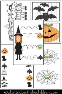Halloween printables from What to do with the children?