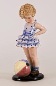 """""""Goldscheider"""" ceramic figurine by Germaine Bouret (1907-1953) - ca. 1936"""