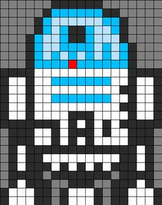 R2D2 bead pattern for melty beads