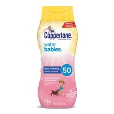 Coppertone WaterBABIES Sunscreen Lotion SPF 50, 8 fl oz Sport Sunscreen, Baby Skin, Lotion, 50th, How To Apply, Walmart, Summer, Products, Summer Time