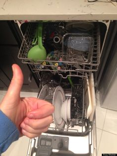 DIY/home-made dish washer detergent, to save money, or as a handy solution for when you run out of store bought. Uses liquid dish soap, baking soda, and salt.
