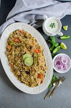 This easy chicken biryani is a one pot healthy recipe. It is full of traditional flavors and very easy to prepare. You will love this authentic delicacy. One Skillet Meals, Easy One Pot Meals, Easy Family Meals, Quick Easy Meals, Skillet Recipes, Healthy Chicken Recipes, Seafood Recipes, Indian Food Recipes, Asian Recipes