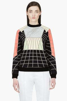 PETER PILOTTO Navy Graphic Print Sweater   Hair and Make up