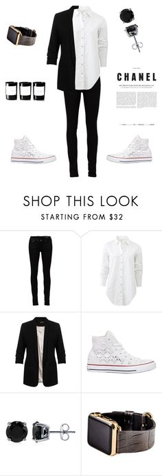 """Chanel"" by gabrielasandru ❤ liked on Polyvore featuring Yves Saint Laurent, rag & bone, Miss Selfridge, Converse, BERRICLE, Hadoro and Byredo"