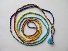 Gold Metallic Beaded Necklace Wrap Bracelet by TheRainbowFarmer Tribal Necklace, Tribal Jewelry, Bohemian Jewelry, Beaded Necklace, Beaded Bracelets, Gold Jewelry, Jewellery, Etsy Jewelry, Jewelry Crafts