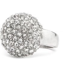 Diamond Ball Cocktail Ring ($4.50) ❤ liked on Polyvore