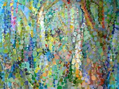 """""""Abstract Woodland"""" Murals That Stick wall decals by Angelo Franco for GreenBox Art + Culture $189"""