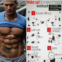 Great workout for your abs! Get that six pack!