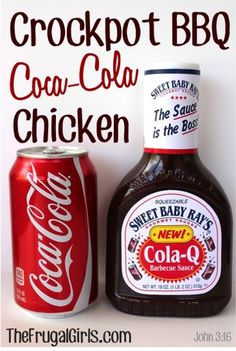 Crockpot BBQ Coca-Cola Chicken Recipe! ~ from TheFrugalGirls.com {it's incredibly easy to make and SO delicious!} #crockpot #chicken #recipes