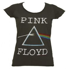Ladies Charcoal Pink Floyd Dark Side Of The Moon T-Shirt from... ($19) ❤ liked on Polyvore featuring tops, t-shirts, floyd, charcoal tee, vintage tops, charcoal grey t shirt and vintage t shirts