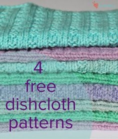 knitting for beginners dishcloth stricken für anfänger geschirrtuch tricot pour torchon débutant Dishcloth Knitting Patterns, Loom Knitting, Knitting Stitches, Free Knitting, Crochet Patterns, Simple Knitting Patterns, Dishcloth Crochet, Knitting Needles, Knitted Washcloths