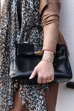 Lady of Style: How to wear leather and leopard at work