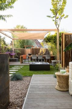 Outdoor Spaces, Outdoor Living, Outdoor Decor, Steel Pergola, Pergola Attached To House, Modern Backyard, Covered Pergola, Small Garden Design, Pergola Designs