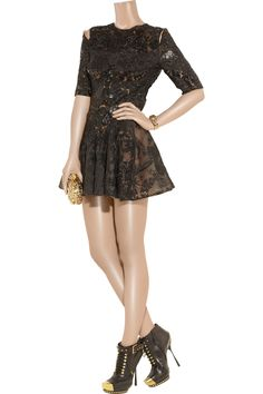 Alexander McQueen Embellished silk-tulle, organza and satin dress