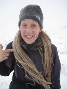 Poor frozen dreads :-( on Mt Snowdon, Christmas Day 2013