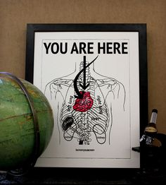You Are Here Print | Art Prints | ISCREENYOUSCREEN | Scoutmob Shoppe | Product Detail