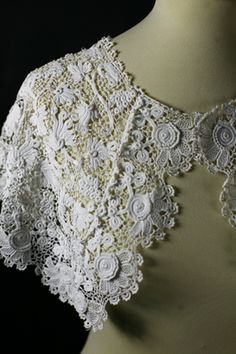 Irish crochet cape