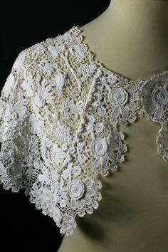 Irish crochet cape