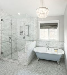 carrera tiled bathroom