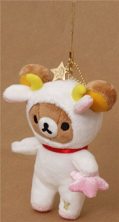 Rilakkuma bear zodiac sign Capricorn plush charm