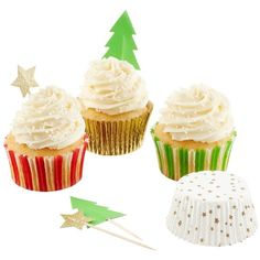 Stars Trees Cupcake Kit ($13) ❤ liked on Polyvore featuring home, kitchen & dining, kitchen gadgets & tools, cupcake cases, cupcake kits, cupcake baking cups, cupcake paper and cupcake set