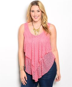 Coral Plus Size Top