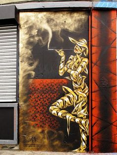 This is stunning! @thisisstunning Smoke #streetart. http://stores.ebay.com/urban-art-designs https://www.etsy.com/shop/urbanNYCdesigns?ref=hdr_shop_menu