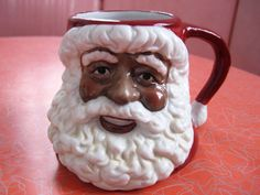 This is a great cocoa mug. Black Santa