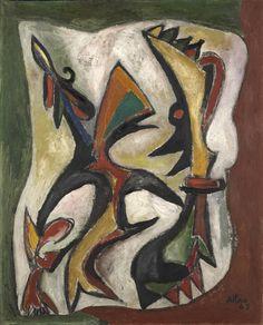 Jean-Michel Atlan – Carnaval II, 1948; oil on canvas, 100x81.7 cm