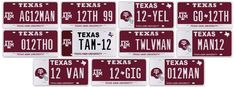 License plate auction: How many ways can you spell 12THMAN?
