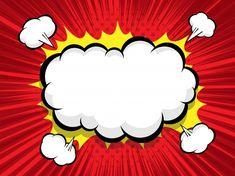 Comic background with blank boom speech ... | Premium Vector #Freepik #vector #background #cartoon #comic #speech-bubble Fond Pop Art, Pop Up Art, Pop Art Background, Vector Background, Comic Book Bubble, Old Comic Books, Vintage Banner, Pop Art Wallpaper, Photoshop Projects
