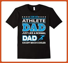 Mens Im A Athlete Dad And Except Much Cooler t shirt Large Black - Relatives and family shirts (*Partner-Link)