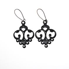 Black Earrings from Hoopla Earrings