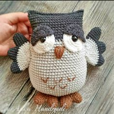 Trendy Ideas For Crochet Amigurumi Owl Pattern Yarns Crochet Birds, Knit Or Crochet, Cute Crochet, Crochet Animals, Easy Crochet, Crochet Patterns Amigurumi, Crochet Dolls, Knitting Patterns, Crochet Bookmarks
