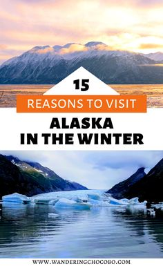 Check out these 15 reasons to visit Alaska in winter. Head north to play in the snow, gaze at snow-capped mountains, and watch the Aurora dance. Usa Travel Guide, Travel Usa, Travel Tips, Canada Travel, Travel Guides, Alaska Travel, Alaska Trip, Alaska Cruise, Alaska Winter